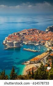Dubrovnik, Croatia. Beautiful romantic old town of Dubrovnik during sunny day, Croatia,Europe.