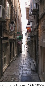 DUBROVNIK, CROATIA - JUNE 29, 2012: Dubrovnik was the main filming location in Croatia for HBO's fantasy epic King's Landing in the TV show Game of Thrones,  Robin Hood and Star Wars: The Last Jedi.