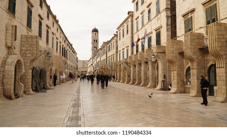 Dubrovnik / Croatia - March 2013: Old Town of Dubrovnik turned into a movie  set.