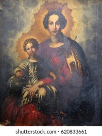 DUBROVNIK, CROATIA - NOVEMBER 08: Virgin with Child by the Peter Paul Rubens in the convent of the Friars Minor in Dubrovnik, November 08, 2016.