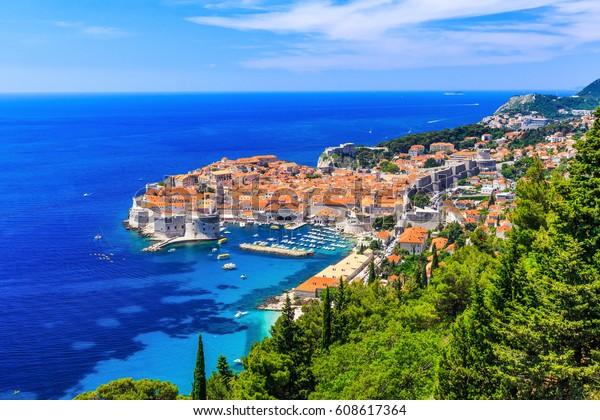 Dubrovnik, Kroatien. Panoramablick auf die Altstadt.