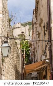 DUBROVNIK, CROATIA - SEP 27, 2013: Photo of old town of Dubrovnik (UNESCO list)