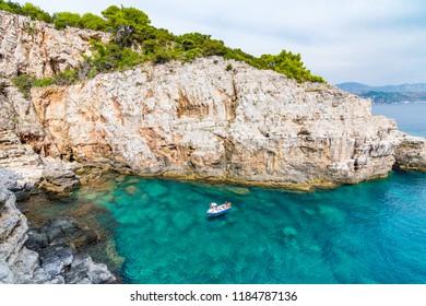 Dubrovnik, Croatia - September 16 2017: Lokrum Island.