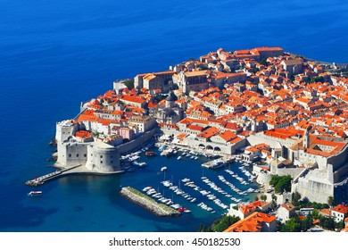 Dubrovnik, Croatia.Top view.
