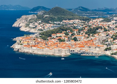 Dubrovnik in Croatia. View from the hill Srd