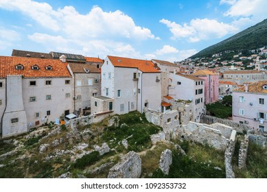 Dubrovnik, Croatia - Wide Angle View of a Less Popular Part of t