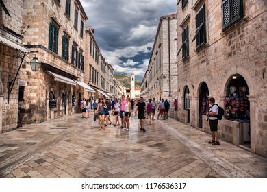 DUBROVNIK, CROATIA-JUNI 24, 2018: Dubrovnik is a Croatian city on the Adriatic Sea. It is one of the most prominent tourist destinations in the Adriatic Sea.