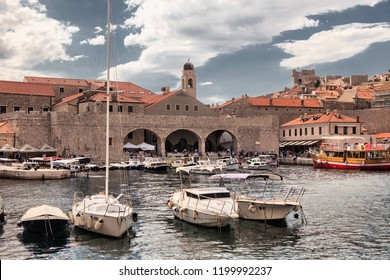 DUBROVNIK, CROATIA-JUNI 26, 2018: Dubrovnik is a Croatian city on the Adriatic Sea. It is one of the most prominent tourist destinations in the Adriatic Sea. The old town is inscribed on the UNESCO.