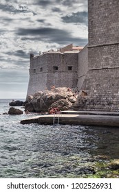 DUBROVNIK, CROATIA-JUNI 28, 2018: Dubrovnik is a Croatian city on the Adriatic Sea. It is one of the most prominent tourist destinations in the Adriatic Sea.
