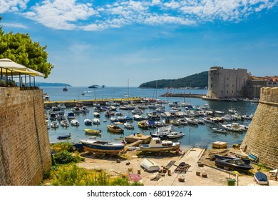 Dubrovnik old harbor. Croatia.