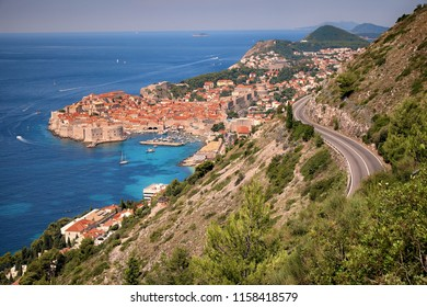 Dubrovnik Old Town along dalmatian coast, Croatia