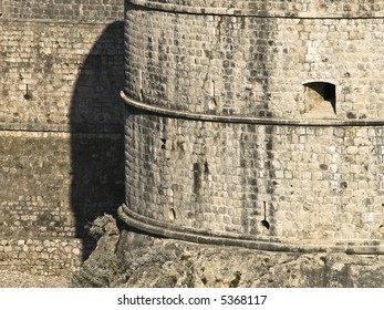 "Dubrovnik old town walls detail. Fortress ""Bokar"""