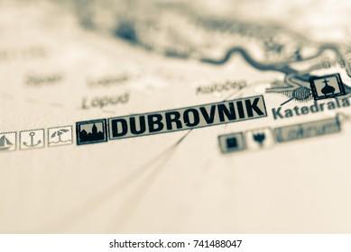Dubrovnik on map.