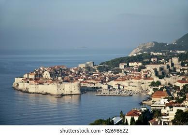 dubrovnik walled city in croatia