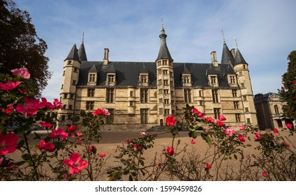 The Ducal palace in Nevers city, Nievre, France. Built in the 15th and 16th centuries, feudal edifice in central France.