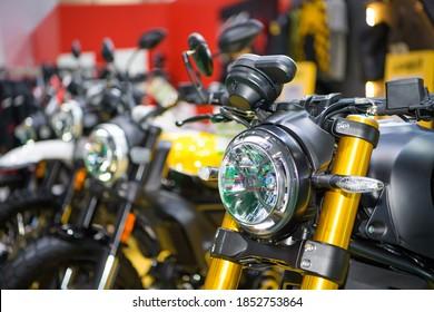 Ducati Scrambler Motorcycles on display at THE 41st BANGKOK INTERNATIONAL MOTOR SHOW 2020 on July 14, 2020 in Nonthaburi, Thailand.