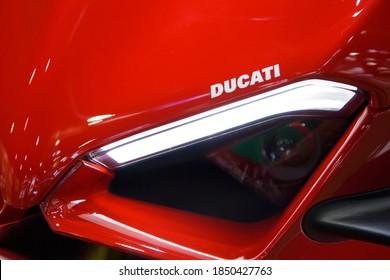 Ducati X Diavel Motorcycles on display at THE 41st BANGKOK INTERNATIONAL MOTOR SHOW 2020 on July 14, 2020 in Nonthaburi, Thailand.