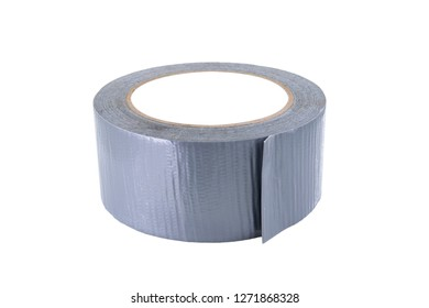 Duck tape isolated on white background