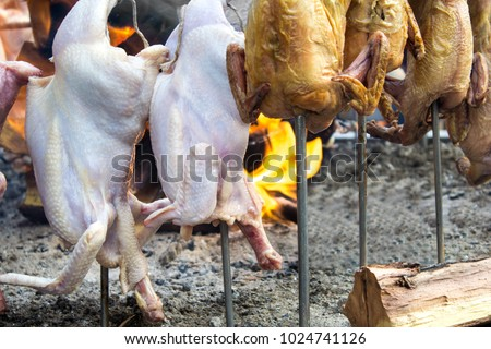 Duck Turkey Chicken Sajji Food Street Stock Photo Edit Now