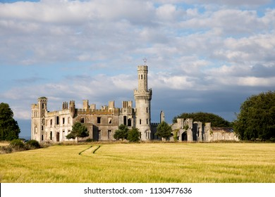 Ducketts grove ruins. Old castle ruins in Co. Carlow. Tourist attraction point. Ireland