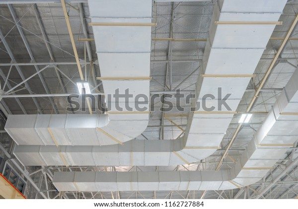 Duct Exhaust Fan Install By Hanging Stock Photo (Edit Now