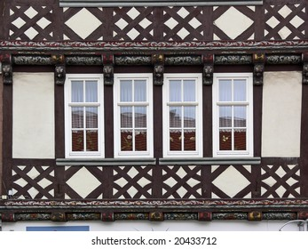 Duderstadt, timbered house detail, Lower Saxony, Germany