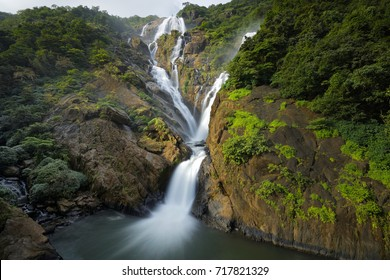 Dudhsagar Waterfall, Goa, INDIA, Circa September 2017