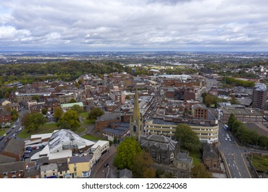 Dudley aerial view, UK.