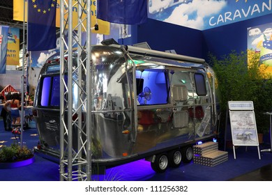 DUESSELDORF AUGUST 27 Airstream Caravan Caravan Stock Photo