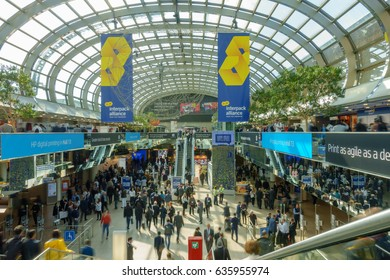 DUESSELDORF, GERMANY - MAY 7, 2017: Interpack International Exhibition of the packaging industry