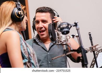 Duet singing in the recording studio