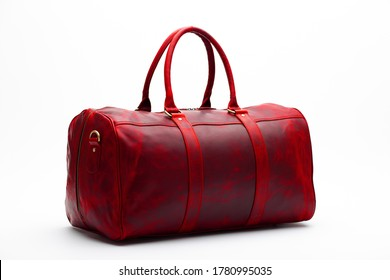 duffel bag travel case leather holdall valise fashion modern carry handle