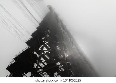 Duga Antenna Complex in Chernobyl Exclusion zone 2019 closeup