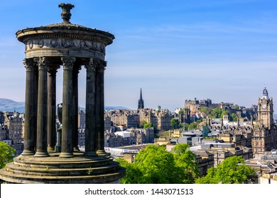 The Dugald Stewart Monument, built in 1831, is a memorial to the Scottish philosopher Dugald Stewart and sits on Calton Hill overlooking the city of Edinburgh.