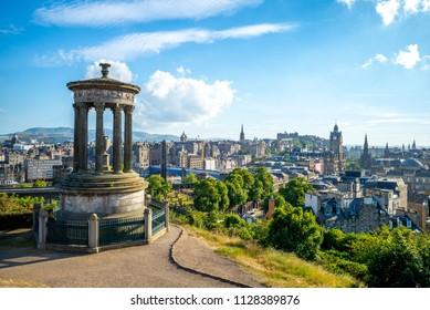 Dugald Stewart Monument at Calton Hill in Edinburgh