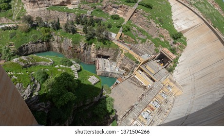 Dukan Dam Power Station view from above (Sulaymaniyah, Iraq)