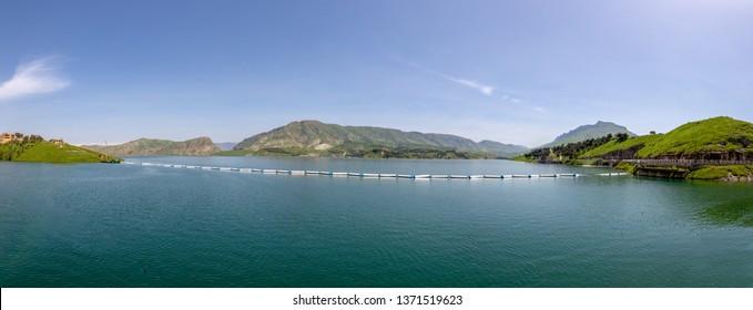 Dukan Lake Panorama View From the Dam (Sulaymaniyah, Iraq)