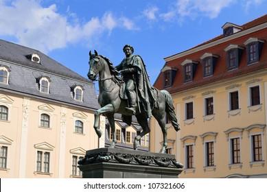 Duke Carl August monument in Weimar