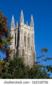 Duke University chapel bell tower located on the campus of Duke University in Durham, North Carolina.