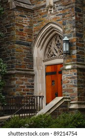 Duke University Chapel Side Door, Durham, North Carolina.
