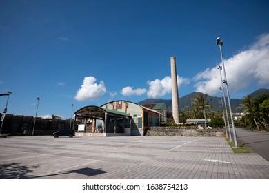 Dulan, Taiwan - December 18 2019: The old sugar factory now becomes Dulan Sugar Factory Cultural Park after renovation.