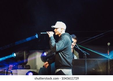 DULUTH, GA, USA - FEBRUARY 15TH, 2018: Country music singer and songwriter Kane Brown performs on stage during Chris Young's Losing Sleep 2018 World Tour at Infinite Energy Center.