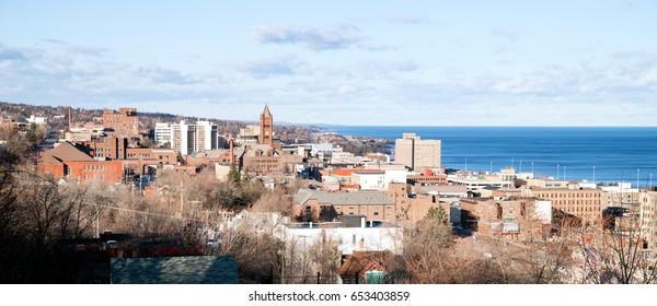 Duluth Minnesota Downtown City Skyline Port City Lake Superior