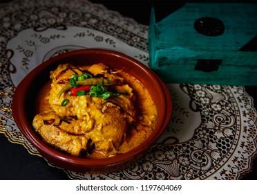 Dum chicken mughlei curry