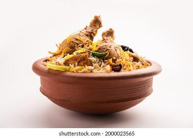 Dum Handi chicken Biryani is prepared in an earthen or clay pot called Haandi. Popular Indian non vegetarian food