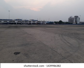 Dum Dum, Kolkata, West Bengal, India, Friday, June 14, 2019:  The tarmac of Netaji Subhas Chandra Bose International Airport, DumDum with some aircrafts, ATC complex in a evening.