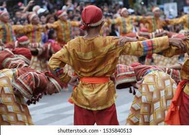 Dumaguete City, Negros Oriental, Philippines - October 18,2019: Buglasan Festival Street Dance Competition.  The biggest festival of Dumaguete City where in other provinces come also to celebrate.