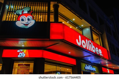 Dumaguete City, Philippines - Jum. 13, 2016: Jollibee branch in Dumaguete City. Jollibee is the largest fast food chain in the Philippines, operating a nationwide network of over 750 stores.