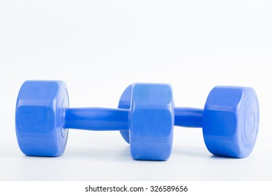 Dumbbell for building your body with white background.