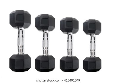 dumbbell weights isolated on a white background fitness concept